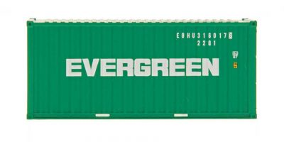 HO A-Line 20' Container w/Corrugated Doors - Evergreen