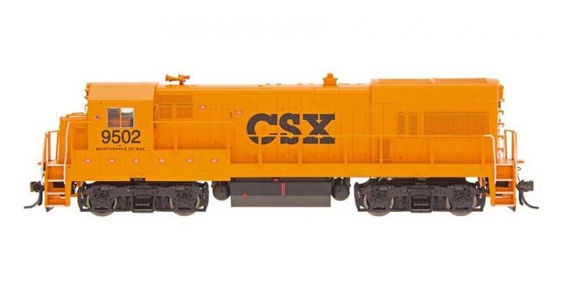 U18B Locomotive CSX Maintenance of way orange