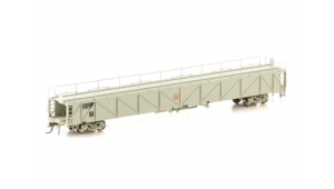 Auscision AMBX Car Carrier, Plain metal sided SAR 4 Car Pack, Grey with No Logo, HO Scale