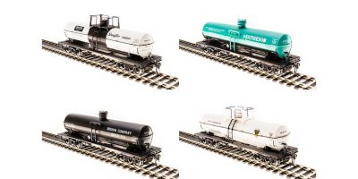 6000 Gallon Tank, Variety Set A, 4-Pack, HO Scale