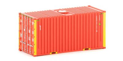 Twin Pack of Auscision 20 foot Hi-Cube Patrick Container (no logo), HO Scale.
