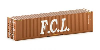 CON 18 Auscision 40 foot Container FCL (large logo) brown HO Scale