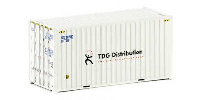 Twin Pack of Auscision 20 foot Hi-Cube TDG Distribution Containers, HO Scale.