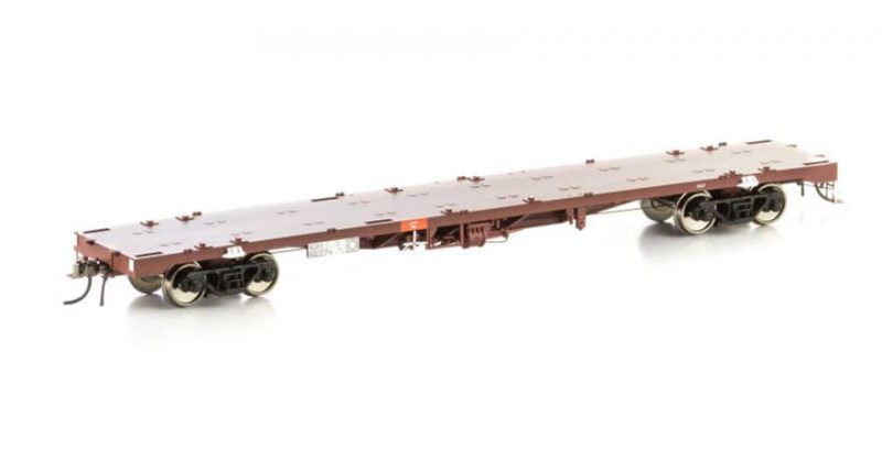 Auscision SRA Indian Red NCW-3NQRX Container Wagon, SRA Indian Red, 4 Car Pack