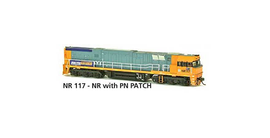 Austrains NR 117 - NR with PN PATCH AUSTRAINS NEO NR Class Locomotive Non-Powered HO Scale