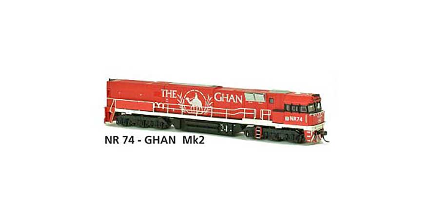 Austrains NR 74 - GHAN Mk2 AUSTRAINS NEO NR Class Locomotive Non-Powered HO Scale