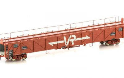 Auscision VCC-7 VMBX Fluted Metal Sided Car Carrier, VR Red with Large VR Logos, 4 Car Pack