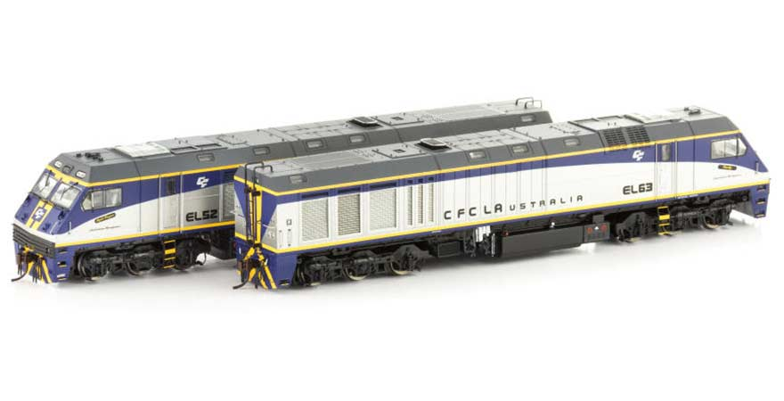 Auscision EL Class Locomotive EL54/60EL54 `Bonecrusher` & EL60 `Octagonal` CFCLA Twin Pack HO Scale