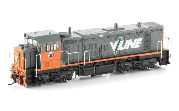 Auscision VIC P Class Locomotive P-3 P16 V/Line Orange & Grey HO Scale