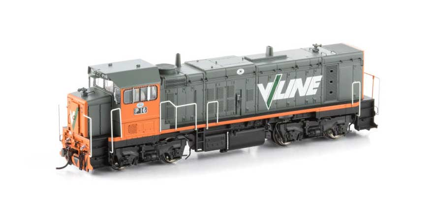 Auscision VIC P Class Locomotive P-3 P16 V/Line Orange & Grey HO Scale