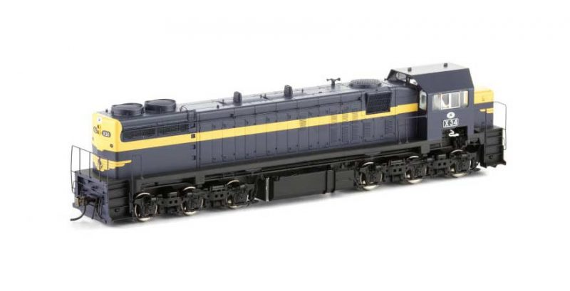 Auscision VIC X Class Locomotive (Series 1) X-6 X34 VR Blue & Gold HO Scale