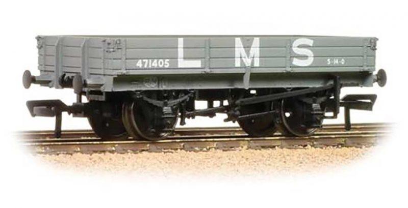 Branchline 39-933, 3 Plank Wagon LMS Grey