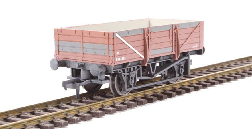 Branchline 33-087, 5 Plank China Clay Wagon without Hood BR Bauxite Weathered OO Scale Product Ref 33-087