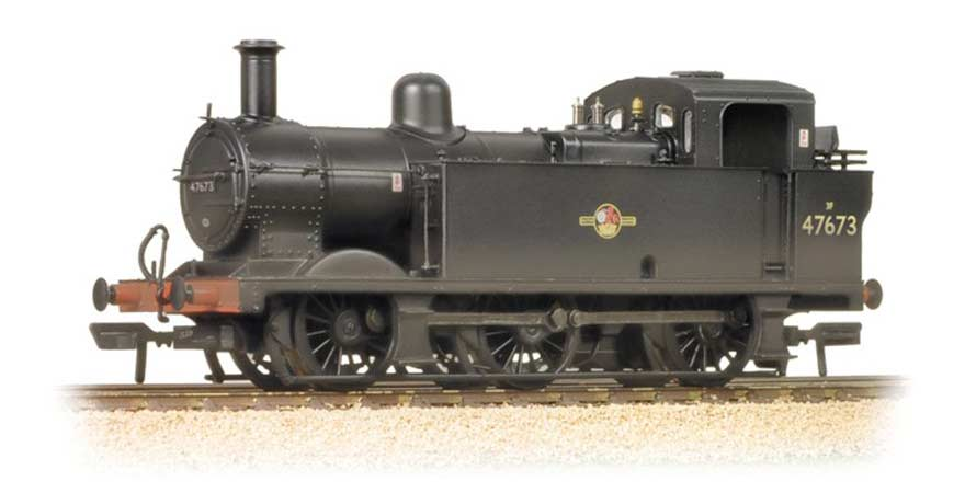 Branchline 32-235 Fowler Class 3F 0-6-0 (Jinty) 47673 BR Black Late Crest Weat OO Scale Product Ref 32-235