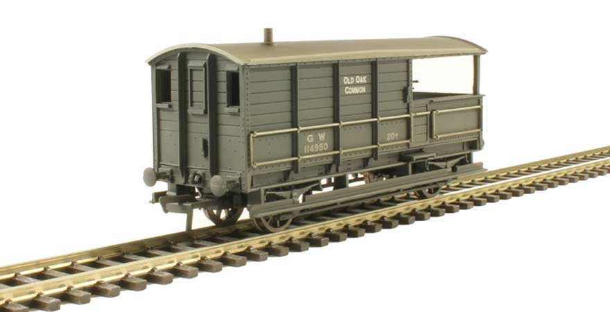 Branchline 33-310, 20 ton toad brake van GWR grey weathered OO Scale Product Ref 33-310