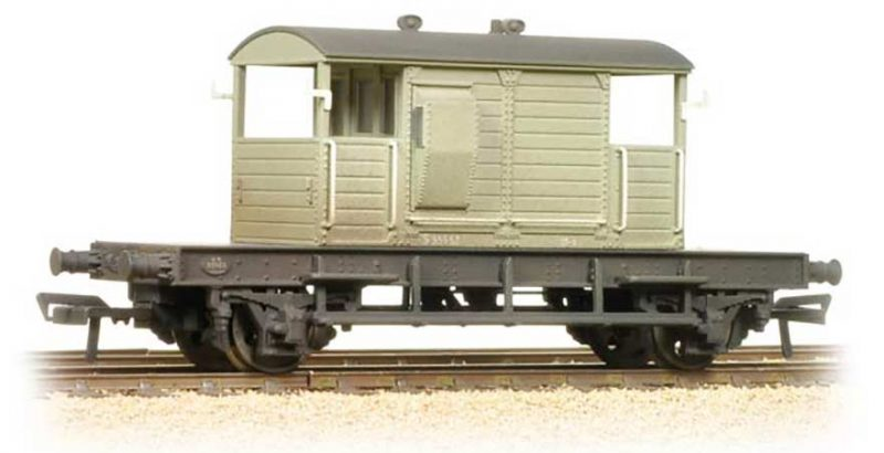 Branchline 38-401A, SR Pill Box Brake Van BR Grey (Weathered) OO Scale Product Ref 38-401A