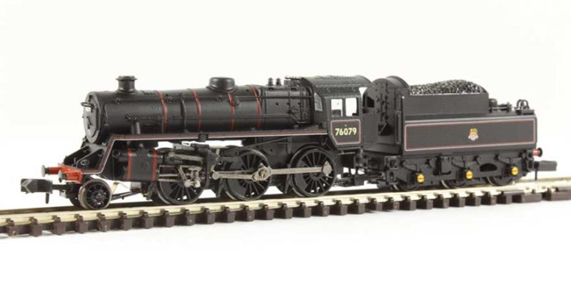 Graham Farish, 372-653, BR Standard Class 4MT 76079 BR Lined Black Early Emblem N Scale Product Ref 372-653