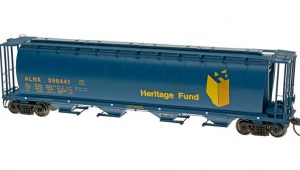 Intermountain HO Scale 4-Bay Cylindrical Hopper - Trough Hatch Alberta Heritage - ALNX Product Ref 45103