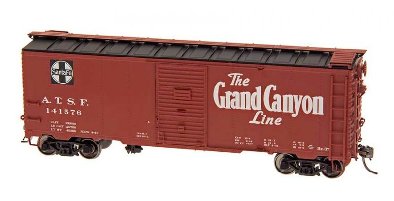 "Intermountain HO Scale 40' Modified 1937 AAR Boxcar (10'-6"" IH) Santa Fe BX-37 Grand Canyon Product Ref 45832"