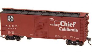 "Intermountain HO Scale 40' Modified 1937 AAR Boxcar (10'-6"" IH) Santa Fe BX-37 Super Chief Product Ref 45834"