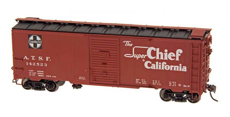"""Intermountain HO Scale 40' Modified 1937 AAR Boxcar (10'-6"""" IH) Santa Fe BX-37 Super Chief Product Ref 45834"""
