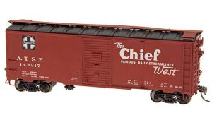 "Intermountain HO Scale 40' Modified 1937 AAR Boxcar (10'-6"" IH) Santa Fe BX-37 Chief Product Ref 45835"