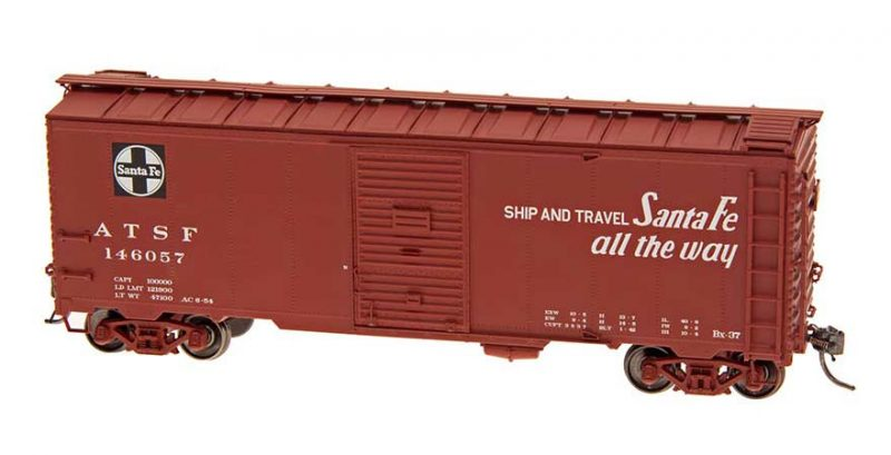 """Intermountain HO Scale 40' Modified 1937 AAR Boxcar (10'-6"""" IH) Santa Fe BX-37 Chief Product Ref 45835"""