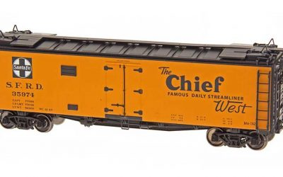Intermountain HO Scale Santa Fe Refrigerator Car - The Chief West - Straight Line Map Product Ref 46110