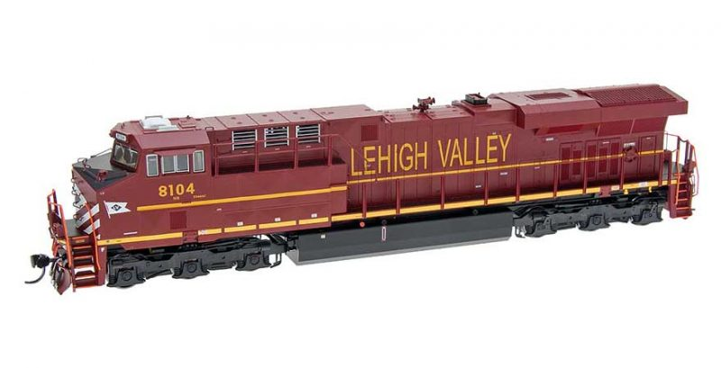 Intermountain HO Scale ES44AC Locomotive with sound - Lehigh Valley Car no 8104 Product Ref 49714 (S)