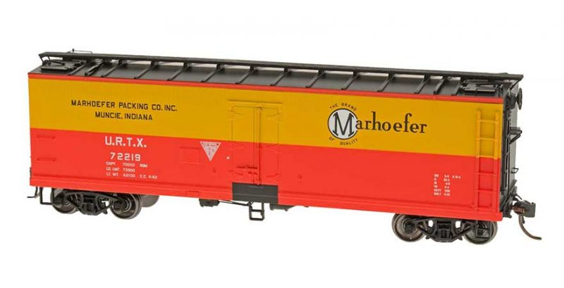 ntermountain HO Scale Wood Refrigerator Car Marhoefer Packing Co Inc. Product Ref 47736