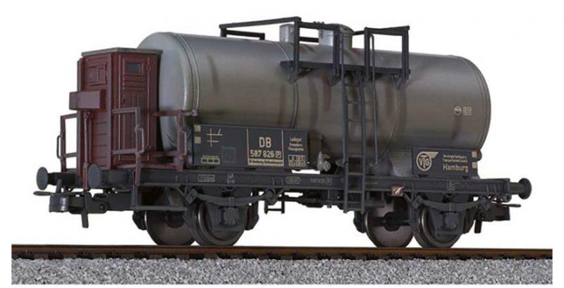 Liliput, L235353, 2 axled Tank Wagon DB epoch III − weathered HO Scale Product Ref L235353
