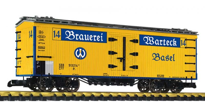 Liliput, L95986, Beer Van 'Brauerei Wartek' SBB−CFF Ep.III−V G Scale Product Ref L95986