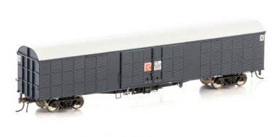 "Auscision NLV-16 JLX Louvred Van, NSWGR Blue Grey with ""R"" Logo & white roof, 4 Car Pack"
