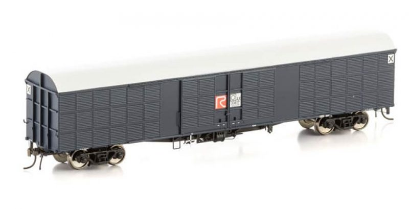 """Auscision NLV-16 JLX Louvred Van, NSWGR Blue Grey with """"R"""" Logo & white roof, 4 Car Pack"""