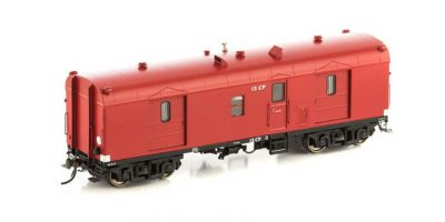 Auscision VGV-4 CP Guards Van, VR Passenger Car Red, 2 Car Pack