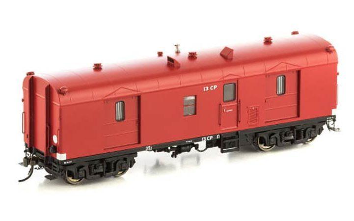 Auscision VGV-4 CP Guards Van, VR Passenger Car Red, 2 Car Pack