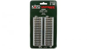 Kato 2-140 unitrack HO Straight 123mm 4 pieces