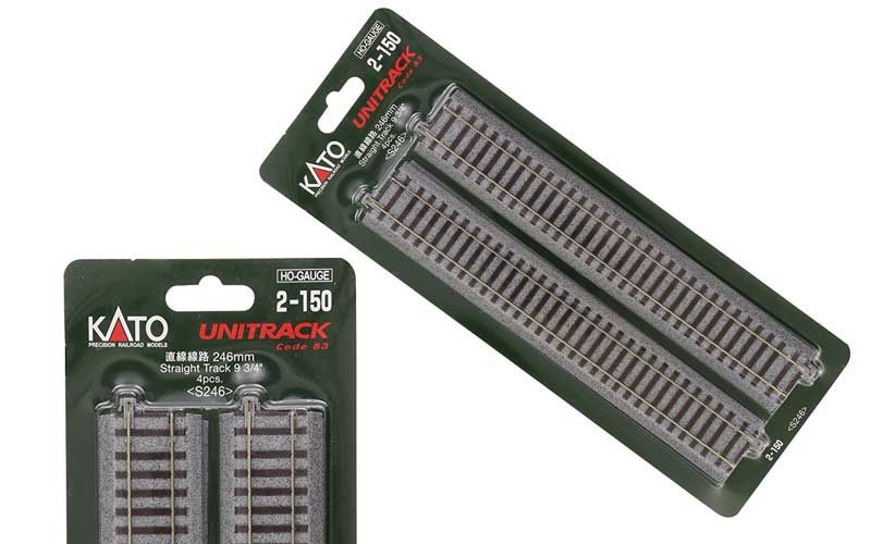 Kato 2-150 unitrack HO Straight 246mm (4 pieces)