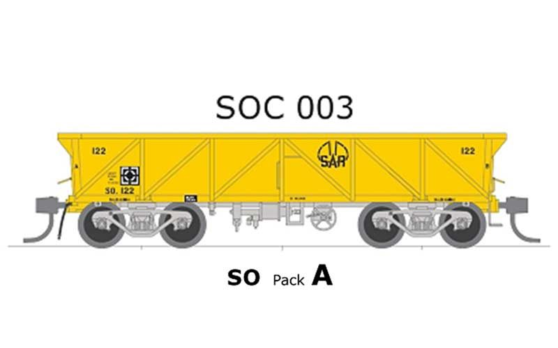 Austrains Neo SOC003 SAR SO Pack A Concentrate Wagon, HO Scale, 5 Pieces