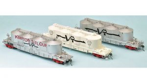 SDS FX Bulk Flour Wagon VR Late 70s Pack 'A' HO Scale 3 Pack