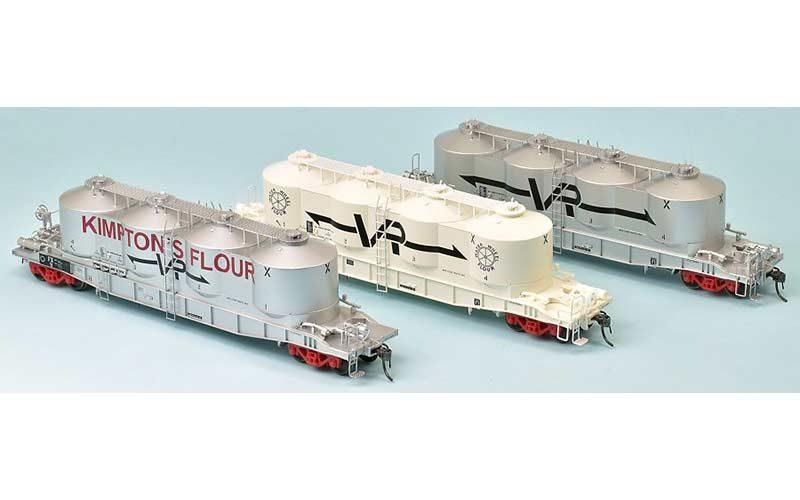 SDS FX Bulk Flour Wagon VR Late 70s Pack 'A' HO Scale 3 Pack