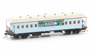Austrain neo platform car H W rice blue F0027