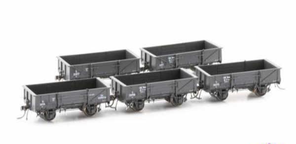 Austrains NEO NSWGR S Truck Disc Wheels / No Buffers Wire Train 5 car pack S033