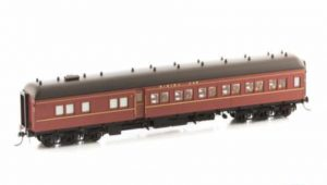 Eureka Models, NSWGR 12 wheel passenger car series, AB 92 Dining Car, Indian Red