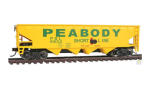 Walthers, 40' Offset Quad Hopper, 'PEABODY', HO Scale