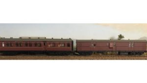 Casula Hobbies, NSWGR CR + EHO Car Set, Indian Red CR1375 + EHO1462