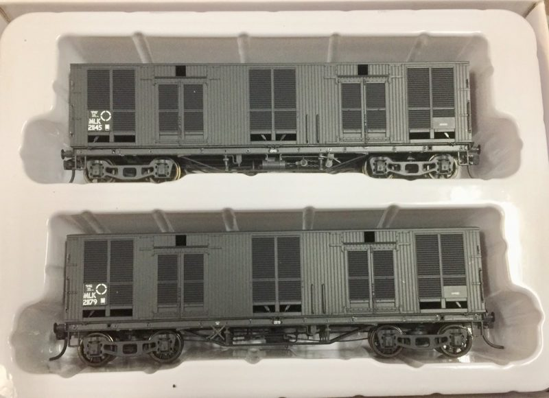 Casula Hobbies, NSWGR, MLV MLK Louvred Van, MLK21145+MLK21179, HO Scale two pack