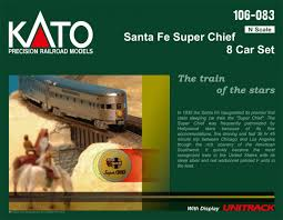 Kato, 106-083, Santa Fe Super Chief, 8 Car Set, N Scale