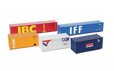 Hornby, HL8002, Lima Junior Set of 5 containers, HO Scale