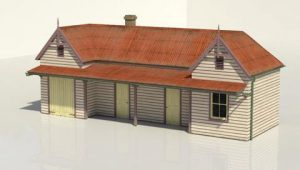 HO Scale Crookwell Station Hand Painted in Resin